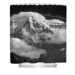 102496-mt. Robson Wreathed In Clouds Shower Curtain