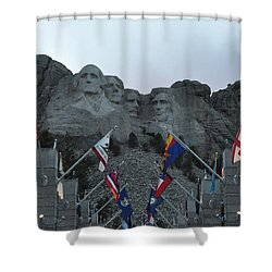 Mt. Rushmore In The Evening Shower Curtain