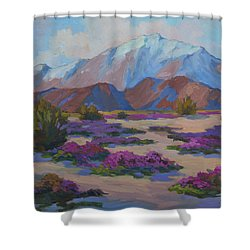 Mt. San Jacinto And Verbena Shower Curtain