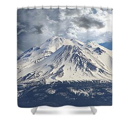 Shower Curtain featuring the photograph Mt Shasta by Athala Carole Bruckner