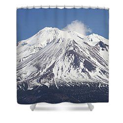 Mt Shasta California Shower Curtain by Tom Janca