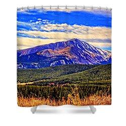 Mt. Silverheels II Shower Curtain by Lanita Williams