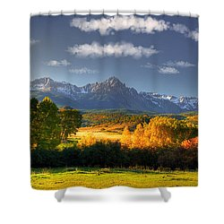 Mt Sneffels And The Dallas Divide Shower Curtain