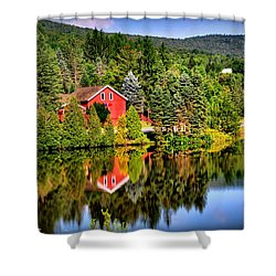 Mt. Snow In Summer Shower Curtain by Mitchell R Grosky