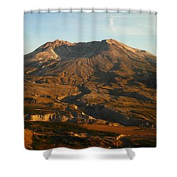 Mt St Helens From Johnsons Observatory Shower Curtain by Jeff Swan