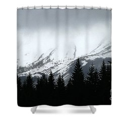Mt St Helens........a Looming Storm Shower Curtain
