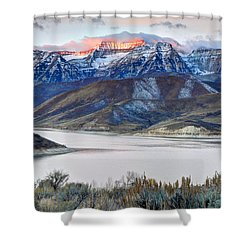 Mt. Timpanogos Winter Sunrise Shower Curtain