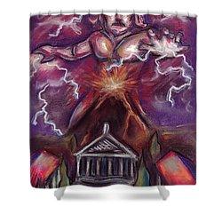 Mt. Vesuvius - Jupiter's Fury Shower Curtain by Samantha Geernaert