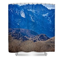 Mt. Whitney And Alabama Hills Shower Curtain by Eric Tressler
