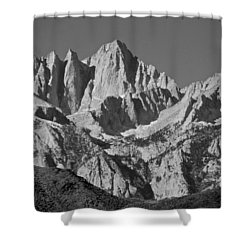 Mt. Whitney In Black And White Shower Curtain by Eric Tressler