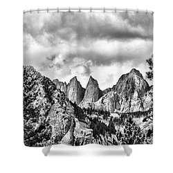 Shower Curtain featuring the photograph Mt. Whitney by Peggy Hughes