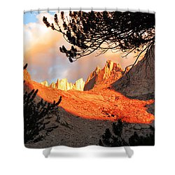 Shower Curtain featuring the photograph Mt. Whitney Sunrise by Alan Socolik