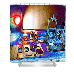 Mud Engineer Shower Curtain by Lanita Williams