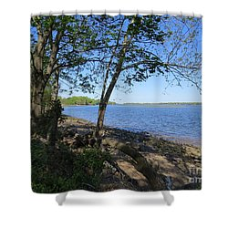 Mud Island Shower Curtain