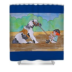 Mud Pony Shower Curtain