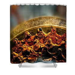 Muddy Rusty Sprockets Shower Curtain by Bob Orsillo