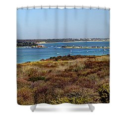 Mudeford Harbour Shower Curtain