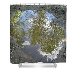 Mudpuddle Reflection Shower Curtain