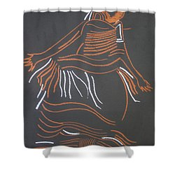 Muganda Lady - Uganda Shower Curtain by Gloria Ssali