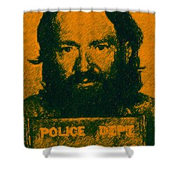 Mugshot Willie Nelson P0 Shower Curtain