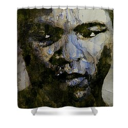 Muhammad Ali  A Change Is Gonna Come Shower Curtain by Paul Lovering