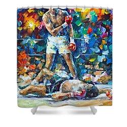 Muhammad Ali Shower Curtain by Leonid Afremov