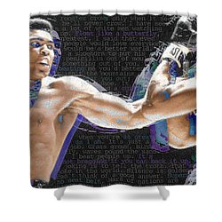 Muhammad Ali Shower Curtain by Tony Rubino