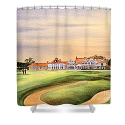 Muirfield Golf Course 18th Green Shower Curtain