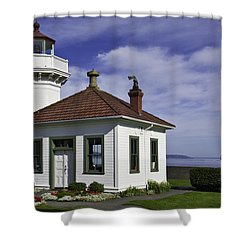 Mukilteo Lighthouse Shower Curtain