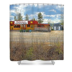Shower Curtain featuring the photograph Mukluk Annie's Salmon Bake by Dyle   Warren
