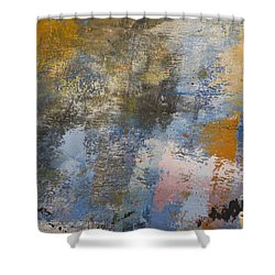 Mulberry On Concrete Shower Curtain by Nola Lee Kelsey