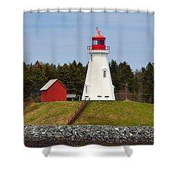 Mulholland Lighthouse Campobello Nb Shower Curtain