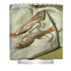 Mullets Shower Curtain by Claude Monet