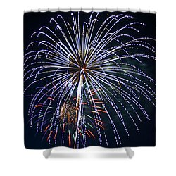4th Of July Fireworks 12 Shower Curtain by Howard Tenke