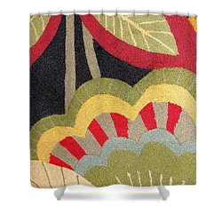 Shower Curtain featuring the photograph Multi-colored Flowers Leaves Textile by Janette Boyd