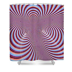Multi-coloured Abstract Design Shower Curtain by Paul Sale Vern Hoffman
