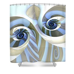 Multi-swirl Shower Curtain by Kevin Trow