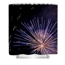 Shower Curtain featuring the photograph Multicolor Explosion by Suzanne Luft