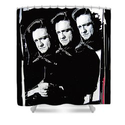 Shower Curtain featuring the photograph Multiple Johnny Cash Sitting Old Tucson Arizona 1971-2008 by David Lee Guss