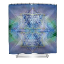 Multivortex 3d Chalice With Horizontal Vortexes Shower Curtain by Christopher Pringer