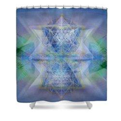 Multivortex 3d Chalice With Horizontal Vortexes Shower Curtain