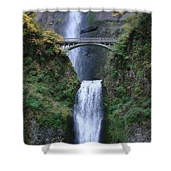 Shower Curtain featuring the photograph Multnomah Falls by Athena Mckinzie