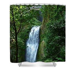 Multnomah Falls Bridge 2 Shower Curtain by Susan Garren