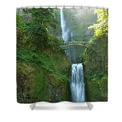 Multnomah Falls Shower Curtain by Christiane Schulze Art And Photography
