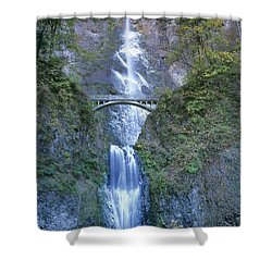 Multnomah Falls Columbia River Gorge Shower Curtain by Dave Welling