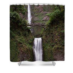 Multnomah Falls Shower Curtain by Suzanne Luft