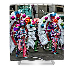 Mummer Color Shower Curtain by Alice Gipson