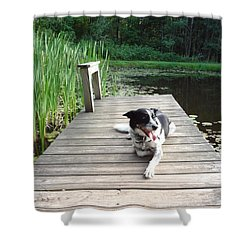 Mundee On The Dock Shower Curtain by Michael Porchik