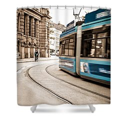 Munich City Traffic Shower Curtain