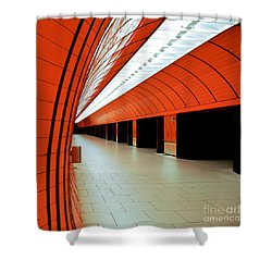 Munich Subway I Shower Curtain by Hannes Cmarits